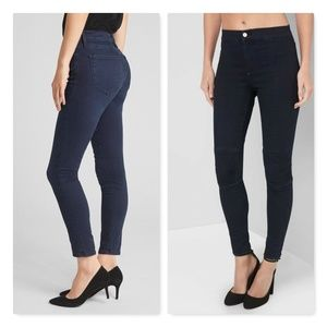Gap midrise true skinny jeans in sculpt.